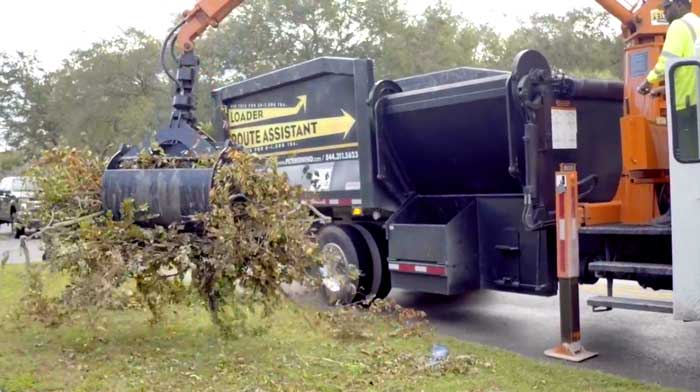 Brush Removal using Grapple Trucks