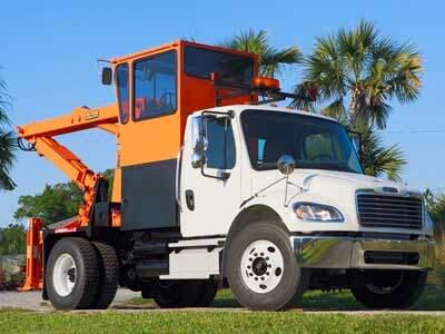 Rear Steer Grapple Truck